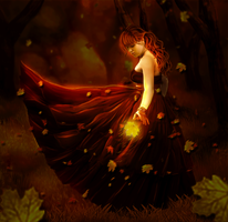 The autumn waltz by ArtbyValerie