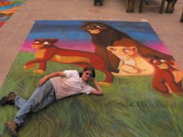 Street Painting The Lion King by Timitu