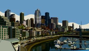 Seattle Waterfront by robotbreath