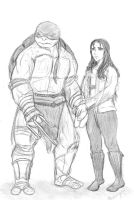 Scene of Raph and April by Greys-Giovana