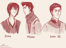 Fire Nation Hotties by annogueras