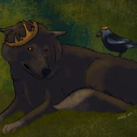 the wolf and the bird by catdoak