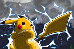Shiny Pikachu Colored by JamalC157