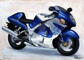 Suzuki Hayabusa -Watercolor- by Bobby-Sandhu