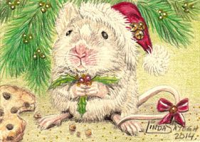 Christmas Mouse by Artsy50