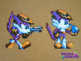 Nack the Weasel Bead Sprite by SerenaAzureth