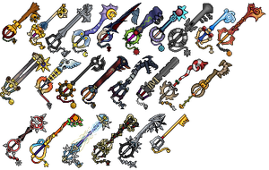 Keyblade Sprites by Sword-Fusion
