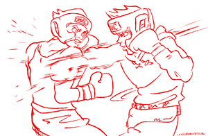 Drawthread: Bolin vs Little Mac by ChuMeng