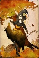 halloween witch by jurithedreamer