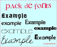 pack de fonts by lulyladiva