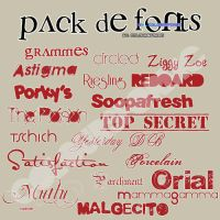 Pack Fonts by youlivewithstyle