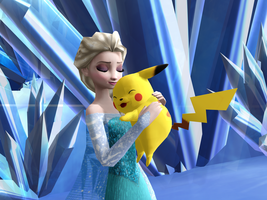 MMD Frozen-PKMN - As Ash Ketchum and Pikachu by JackFrostOverland