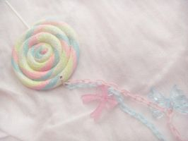 Rainbow Lolli Necklace by ElizabethKathryn