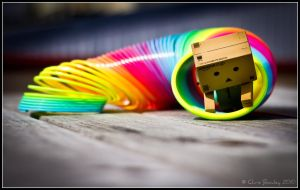 44 Danbo plays with the Slinky! by bowley-chris