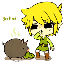 wind waker -- The Pig by onisuu