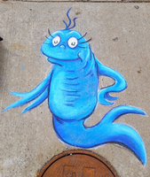 Blue Fish ChalkFest Buffalo by charfade