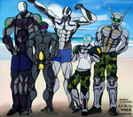 Stupid Sexy Cyborgs at the Beach by crusader1081