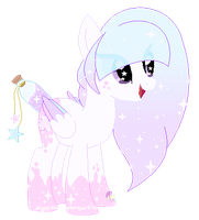 Dreamy Clouds Bottle wish pony oc by SugarMoonPonyArtist