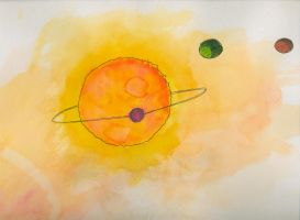 Exoplanets Orbiting by GoldenBauble