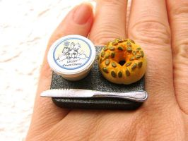 Bagel Cream Cheese Knife Ring by souzoucreations