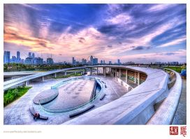 An Evening at Marina Barrage by perfectSky