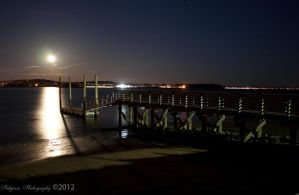 Boat Dock and Moon 2 by patganz