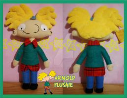 Hey Arnold Plushie by Eevee-no-Sakura