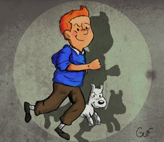 Tintin by Guilll