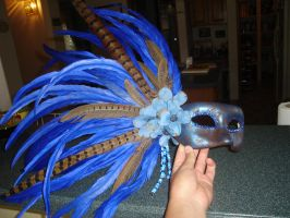 Blue pheasant mask 1 by Easnadh