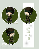snake sticker and bookmark by Nakubi