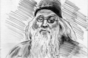 Dumbledore Sketch Card ACEO by Stungeon
