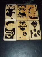 Young Justice coaster set by cutiechibi