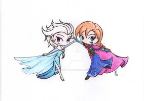 Elsa and Anna by Pockymaster13