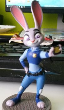 JUDY HOPPS FIGURE by BOHEMIAWILDSHADOW