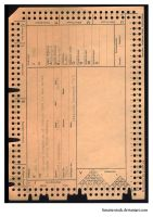 Old Punch Card by Limaria-Stock