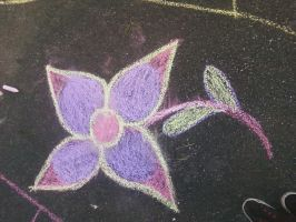 one of the drawings in chalk by EternalLoveAngle