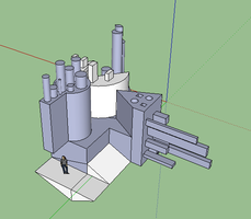 Google Sketchup Abstract Sculpture by DalmationCat