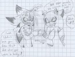 .:Sonic:. Crappy sketch that was in my notebook :D by SilverfanNumberONE