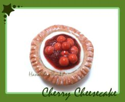 Cherry Cheesecake Magnet by HanaClayWorks
