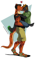 Hugs And Kisses by crocdragon89