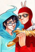 John and Dave - Godtier Bros by blk-kitti