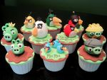 Angry Birds Cupcakes by Sliceofcake