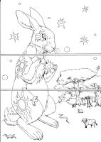 Watership Down pg1 lineart by LadyFiszi