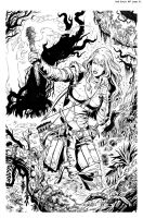 Red Sonja #7 Page 01 by wgpencil