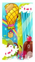 The Great Fruit Balloon Race by marywinkler