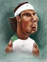 Nadal Caricature by jonesmac2006