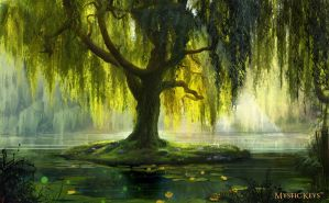 The Willow Bath by zvepywka