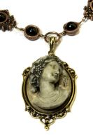 Steampunk Necklace - Antique Goddess Cameo by CatherinetteRings