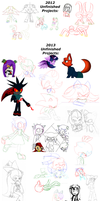 Every unfinished Project : Sketch Dump by AnimalCreation