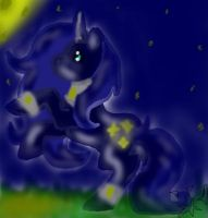 MLP: Darkened Light Pony: Silver Shimmer by xXAstridXx